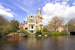 Medieval building in Amsterdam Netherlands Royalty Free Stock Photography