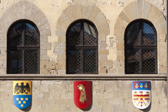Medieval building in Arezzo (Tuscany) Stock Image