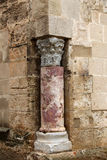 A medieval building, the corner column Royalty Free Stock Photo
