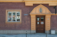 Medieval building front. In brasov old city Royalty Free Stock Image