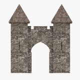 Medieval building - gate with towers Royalty Free Stock Image