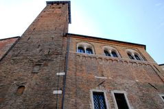 The medieval building houses the town hall of Padua in the Veneto (Italy) Stock Photo
