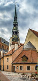Medieval square in the Old Riga Royalty Free Stock Images