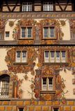Medieval building with painted facade in Konstanz. Germany Royalty Free Stock Photo