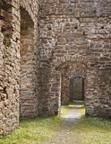 Medieval building ruins Royalty Free Stock Images