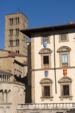 Medieval buildings in Arezzo (Tuscany) Royalty Free Stock Photography