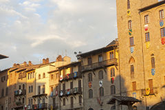 Medieval buildings in Arezzo (Tuscany, Italy) Royalty Free Stock Photos