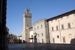 Medieval buildings in Arezzo (Tuscany, Italy) Stock Images