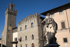 Medieval buildings in Arezzo (Tuscany, Italy) Royalty Free Stock Images