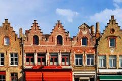 Medieval buildings in Dijver canal. Bruges. Belgium Stock Image