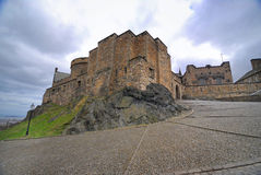 Medieval buildings in Edinburgh castle Stock Photo