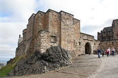 Medieval buildings in Edinburgh castle, Scotland Royalty Free Stock Images