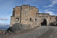 Medieval buildings in Edinburgh castle, Scotland Royalty Free Stock Photos