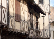 Medieval Buildings in Issigeac France. Detail of medieval French buildings in the Bastide town of Issigeac in the Aquitaine region of Southern France royalty free stock photography