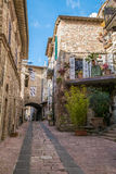 Medieval Buildings in the Italian hill town of Assisi, Umbria, Italy Royalty Free Stock Photo