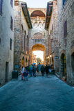 Medieval Buildings in the Italian hill town of Assisi, Umbria, Italy Stock Photography