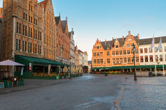 Medieval buildings on the Market Square, Brugge Royalty Free Stock Photography