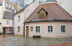 Medieval buildings in the old city of Riga, Latvia. Stock Image