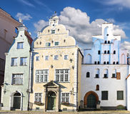 Medieval buildings in old city of Riga, Latvia Royalty Free Stock Images
