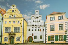 Medieval buildings in old Riga city, Latvia Royalty Free Stock Images