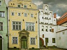 Medieval buildings in old Riga city, Latvia Stock Image