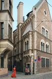 Medieval buildings in old town of Riga, Latvia. Royalty Free Stock Images
