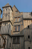 Medieval buildings in the old town. Tours. France. Facades of Medieval buildings  in the old town. Tours. France Stock Photo