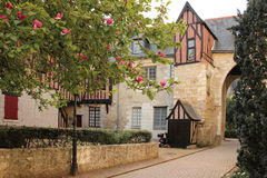 Medieval buildings  in the old town. Tours. France. A square surrounded by Medieval buildings  in the old town. Tours. France Stock Images