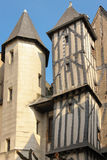 Medieval buildings in the old town. Tours. France Royalty Free Stock Photography