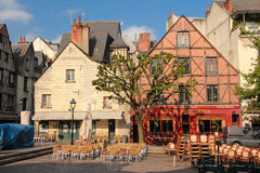Medieval buildings at place Plumereau. Tours. France Royalty Free Stock Photography