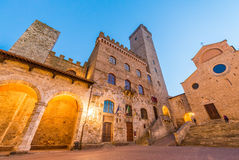 Medieval buildings of San Gimignano, Tuscany Stock Images