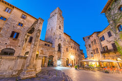 Medieval buildings of San Gimignano, Tuscany Stock Photos