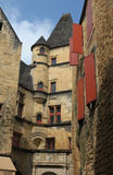 Medieval Buildings in Sarlat France. Photograph of medieval French buildings in the town of Sarlat in the Aquitaine region of Southern France royalty free stock image