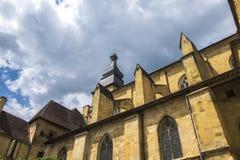 Medieval buildings in Sarlat-la-Caneda; Dordogne; France Stock Photography