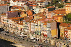 Medieval buildings at the seafront. Porto. Portugal royalty free stock images