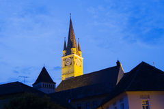 Medieval Burg-night photo Royalty Free Stock Photos