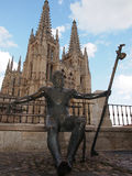Medieval Burgos Cathedral. Gothic church in Spain. UNESCO World Heritage Site Stock Photography