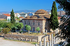 Medieval Byzantine church, Greece royalty free stock image