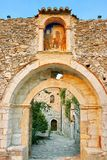 Medieval byzantine fortress of Mystras (UNESCO World heritage) Stock Photos