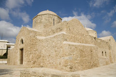 Medieval Byzantium church, Cyprus. Medieval Byzantium church Panagia Chryseleous in Empa, Cyprus royalty free stock photos