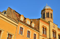 Medieval bzyantine church in Brasov city, Romania Royalty Free Stock Images