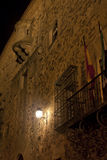 Medieval Caceres at Night Royalty Free Stock Photography