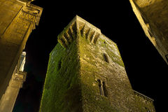 Medieval Caceres at Night Stock Images