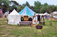 Medieval camp Royalty Free Stock Image