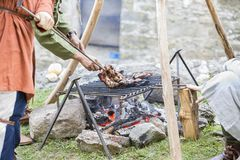 Medieval camp Royalty Free Stock Photos