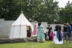 Medieval Camp and Queens Stock Photos