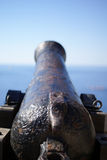 Medieval cannon. On the citadel by the sea Stock Images