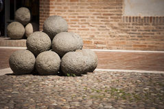 Medieval Cannon balls Royalty Free Stock Photos