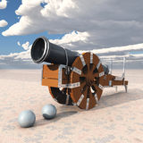 Medieval cannon. Computer generated 3D illustration with a medieval cannon Royalty Free Stock Images