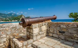 Medieval cannon gun Royalty Free Stock Image